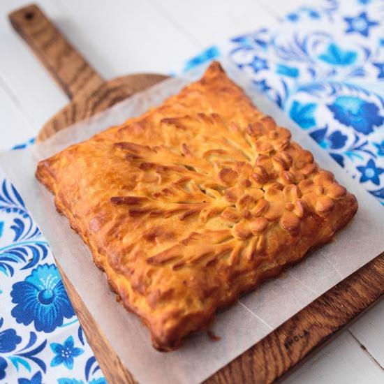 Пирог с лососем