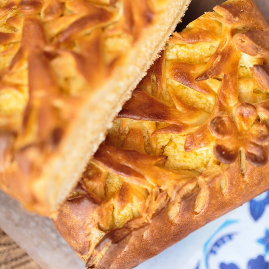 Пирог с творогом и лимоном