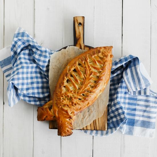 Пирог с сельдью