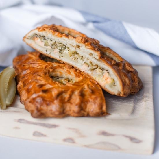 Пирог Похмельный с лососем