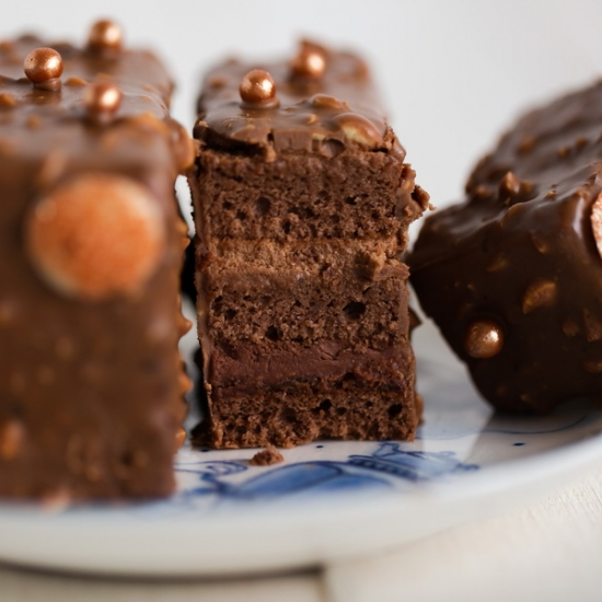 Прага с кремом Шоколад на малине
