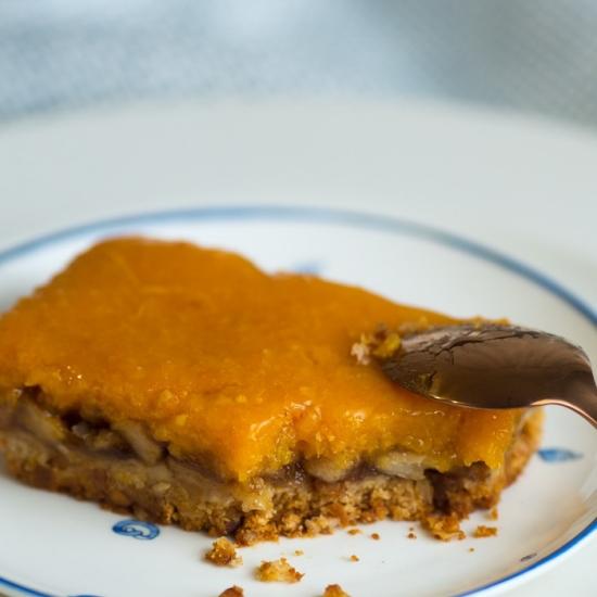 Пирог постный курага-апельсин